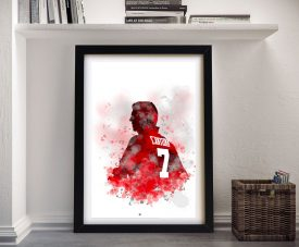 Buy Eric Cantona Silhouette Canvas Wall Art