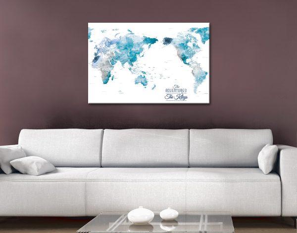 Buy Amazing Custom World Maps Cheap Online