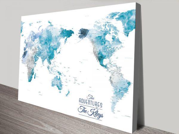 Buy Australia Centered Watercolour Map Artwork