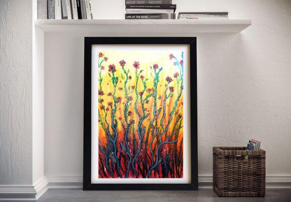 Buy Flower Light Framed Floral Abstract Art