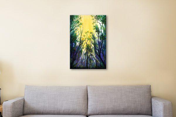 Buy Forest Light Framed Art by Linda Callaghan