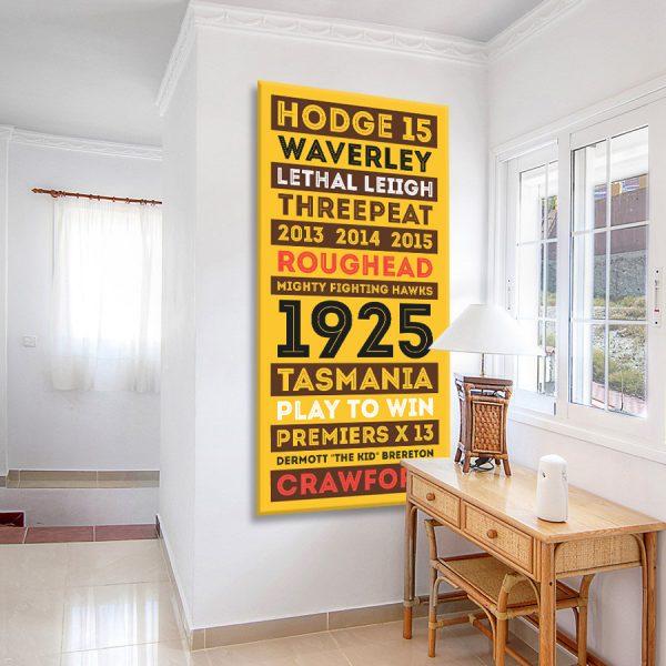 Hawthorn Hawks Tram Scroll AFL Wall Art