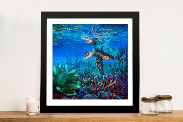 Buy an Underwater Iris Scott Print of a Loggerhead