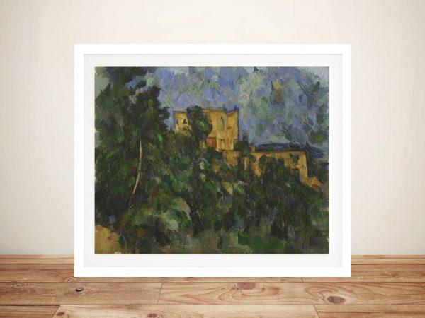 Buy a Framed Paul Cézanne Print of Château Noir