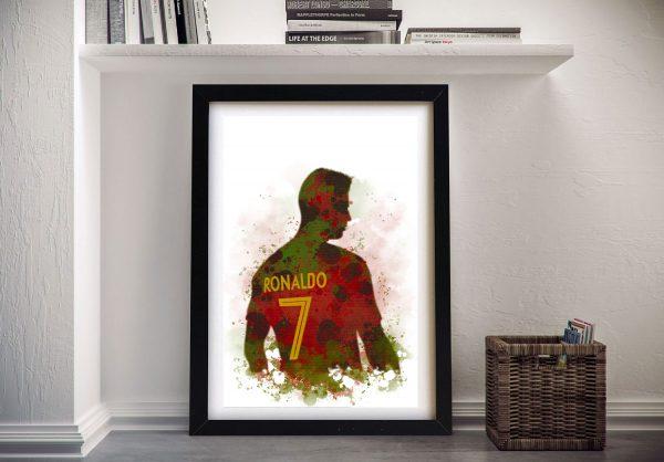 Buy Football Player Portrait Wall Art Cheap Online