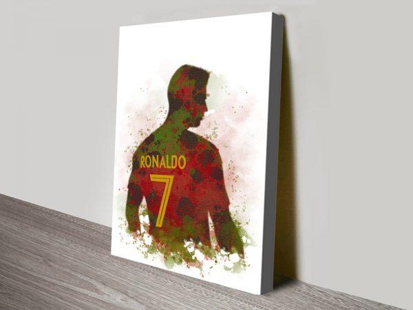 Buy Framed Ronaldo Silhouette Wall Art