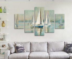 Buy Sailboats at Sunrise Danhui Nai 5-Piece Art