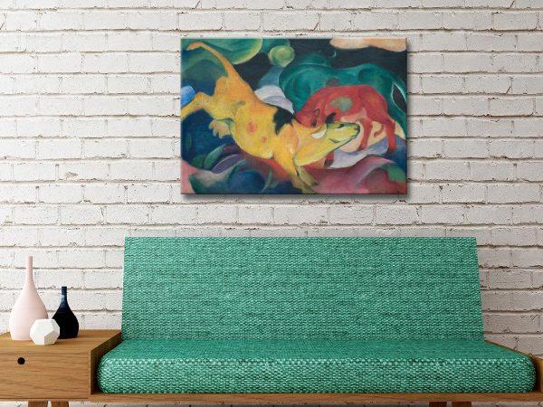 Buy Affordable Franz Marc Cubist Animal Art