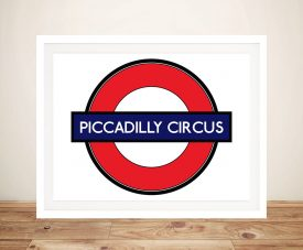 Buy a Canvas Piccadilly Circus Underground Sign