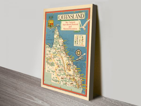 Buy Striking Vintage Map Prints Great Gift Ideas AU