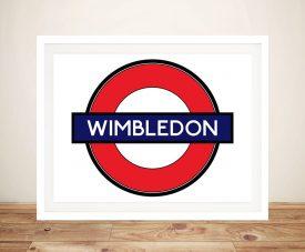 Buy a Framed Wimbledon Underground Print