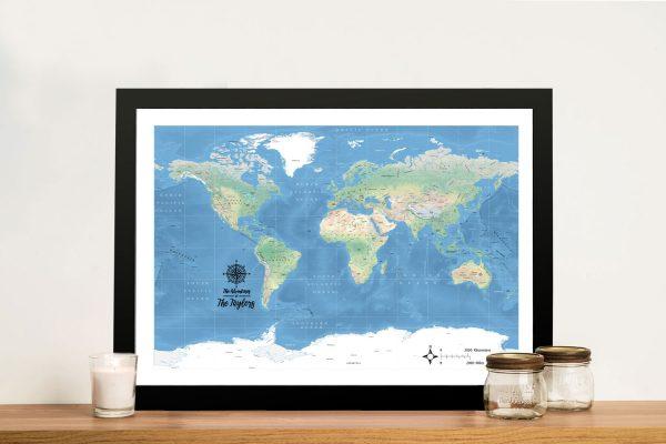 PersonalisedPhysical World Map Artwork