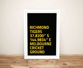 Buy Aussie Rules Richmond Tigers Coordinates Art