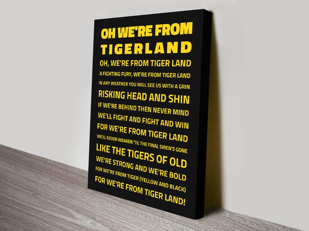 We Re From Tigerland Richmond Tigers Framed Wall Art Australia