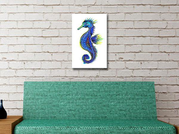 Buy Affordable Colourful Seahorse Wall Art AU