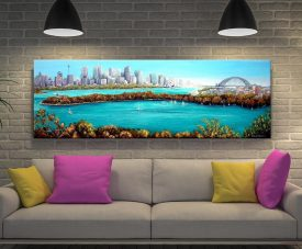 Buy a Framed Panoramic Print of Sydney Harbour