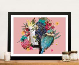 Buy Australian Wild Birds Framed Canvas Art