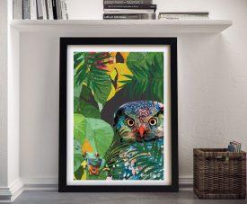 Buy a Karin Roberts Owl & Frog Framed Print