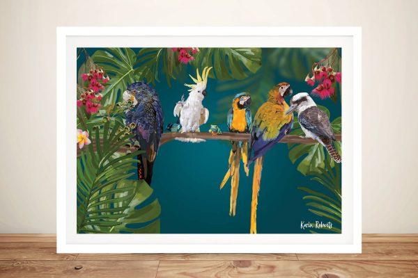 Buy Party of Friends Australian Birds Wall Art