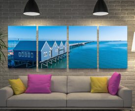 Buy a 4-Panel Busselton Jetty Matt Day Canvas Set