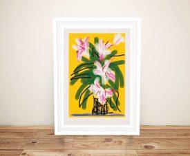 Buy a Print of Lilies Still Life by David Hockney