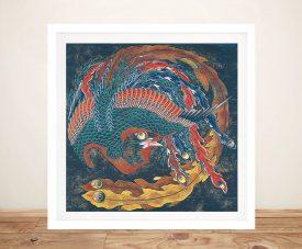 Buy Matsuri Yatai Phoenix Hokusai Framed Art