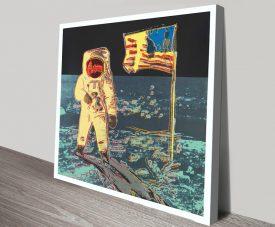 Buy Moonwalk Canvas Warhol Framed Pop Art