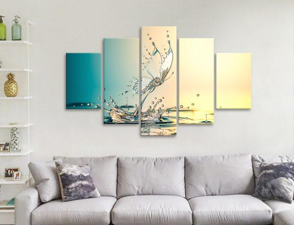 Buy Contemporary 5-Panel Canvas Wall Art