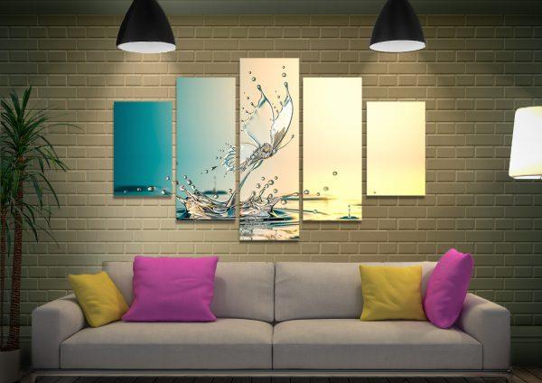 Buy Water Butterfly 5-Panel Wall Art Cheap Online