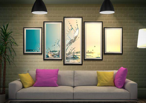 Buy a Water Butterfly Split Diamond Wall Art Set