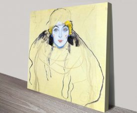 Buy a Framed Print of Womans Head by Klimt