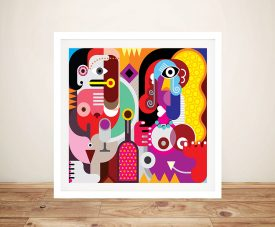 Buy Framed Colourful Abstract Canvas Wall Art