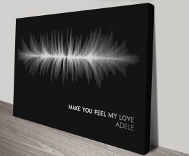 Buy Make You Feel My Love Soundwave Wall Art