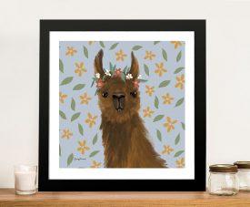Buy a Framed Print of Delightful Alpacas ll