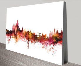 Buy Watercolour Amsterdam Skyline Framed Art