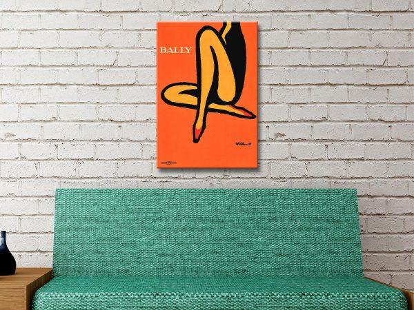 Buy Bally Poster Wall Art Great Home Decor Ideas AU