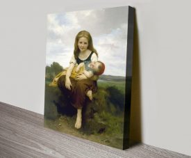 Buy a Canvas Print of The Elder Sister by Bouguereau