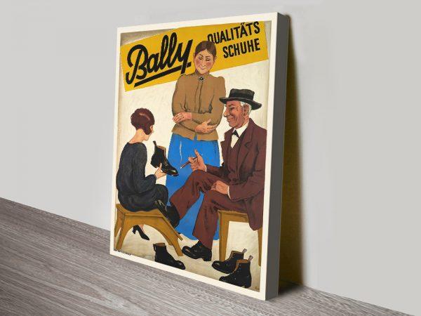 Buy a Bally Qualitats Retro Canvas Poster Print