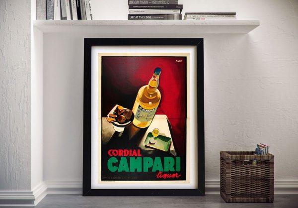 Buy Ready to Hang Vintage Campari Posters AU