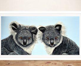 Buy Koalas Linda Callaghan Framed Canvas Art
