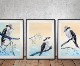 Kookaburra Charm Multi Panel Linda Callaghan Wall Art