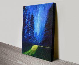 Buy Escape Landscape Finger Painted Wall Art