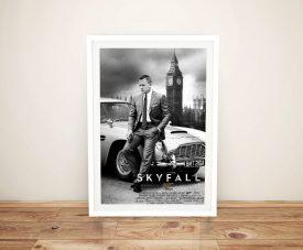 Buy a Framed Skyfall James Bond Poster Print