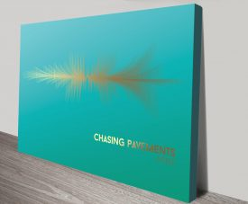 Chasing-Pavements Bright blue and gold canvas print