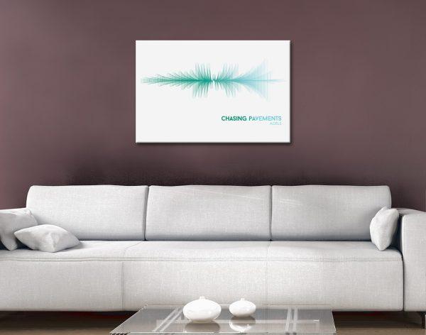 Chasing Pavements Ocean tones canvas artwork
