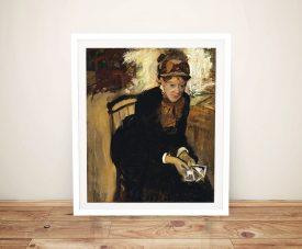 Framed Degas Portrait Print of Mary Cassatt
