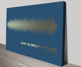 Elton John SoundwaveCanvas Art Prints
