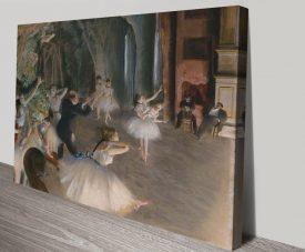Ballet Rehearsal on Stage Degas Classic Artwork