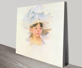 Ellen Mary Cassatt Pretty Portrait Print on Canvas