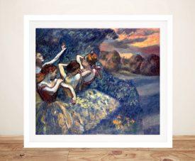 Framed Four Dancers Degas Wall Art